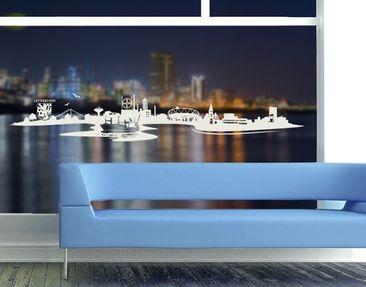 Produktfoto Fensterfolie - Fenstertattoo No.MW10 Skyline Leverkusen - Milchglasfolie