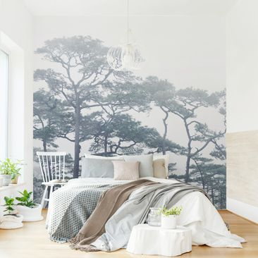 Product picture Non-woven wallpaper - Treetops In Fog -...