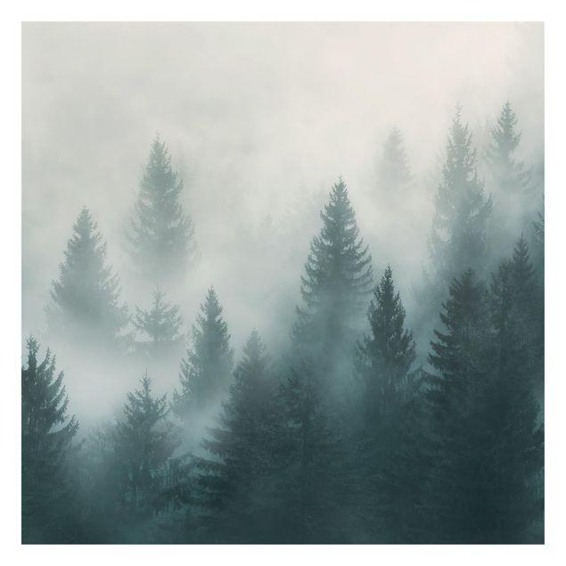 Immagine del prodotto Carta da parati paesaggio - Foresta di conifere nella nebbia