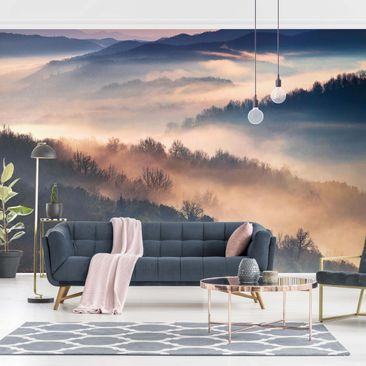 Product picture Non-woven wallpaper - Fog At Sunset -...