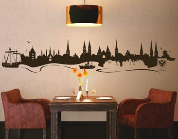 Product picture Wall Decal no.MW11 Skyline Lübeck
