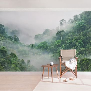 Product picture Photo Wall Mural - Jungle In The Fog -...
