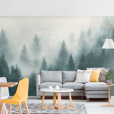 Product picture Photo Wall Mural - Coniferous Forest In...