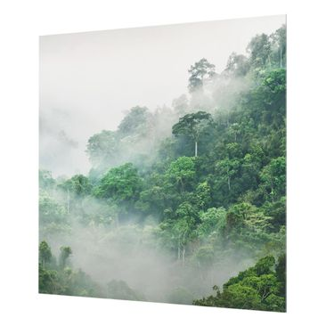 Product picture Glass Splashback - Jungle In The Fog -...