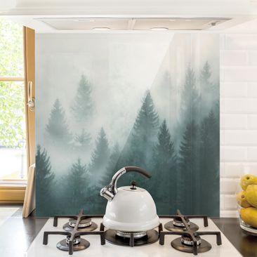 Produktfoto Glass Splashback - Coniferous Forest In...
