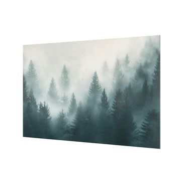 Product picture Glass Splashback - Coniferous Forest In...