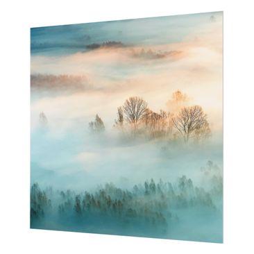 Product picture Glass Splashback - Fog At Sunrise -...