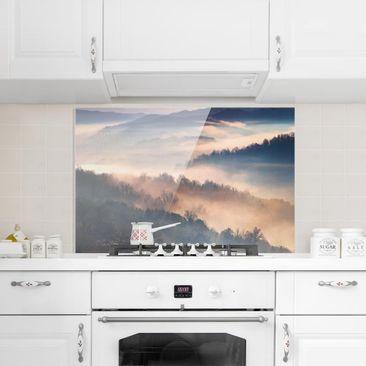 Product picture Glass Splashback - Fog At Sunset -...