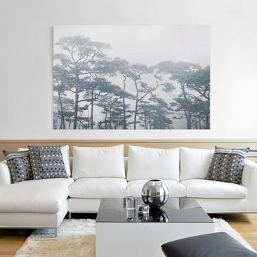 Product picture Canvas Art - Treetops In Fog - Landscape...