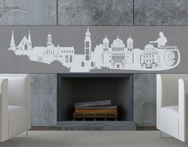 Produktfoto Wall Decal no.KS5 Skyline Augsburg