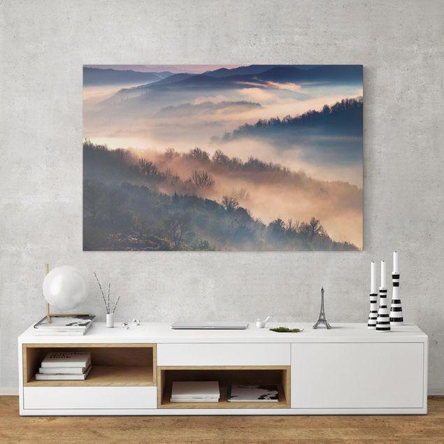 Immagine del prodotto Stampa su tela - Nebbia al tramonto - Orizzontale 2:3