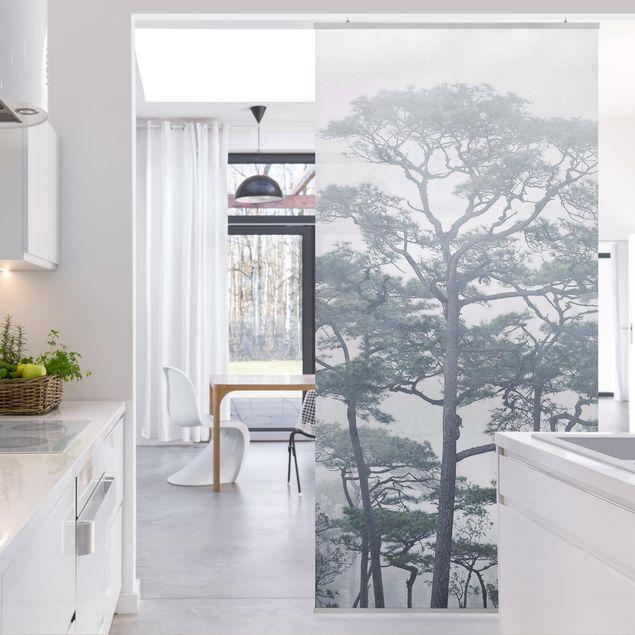 Produktfoto Raumteiler - Baumkronen im Nebel - 250x120cm