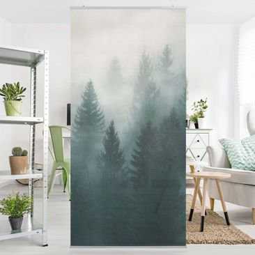 Product picture Panel Curtain - Coniferous Forest In Fog...