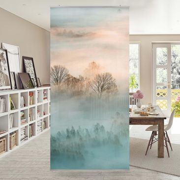 Product picture Panel Curtain - Fog At Sunrise -...