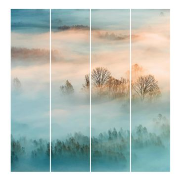 Product picture Sliding curtains set - Fog At Sunrise -...