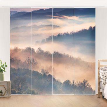 Immagine del prodotto Tende scorrevoli set - Fog At Sunset - 4 Pannelli
