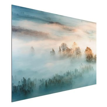 Product picture Aluminium Print - Fog At Sunrise -...