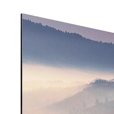 Product picture Aluminium Print - Fog At Sunset -...
