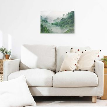 Product picture Print on Glass - Jungle In The Fog -...