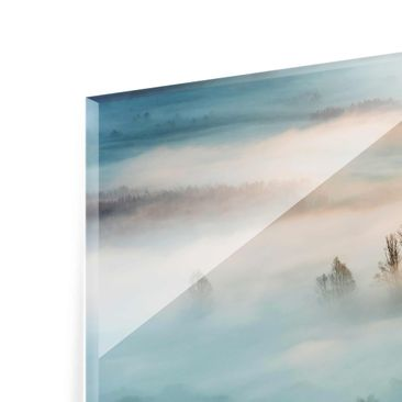 Product picture Print on Glass - Fog At Sunrise - Glass...