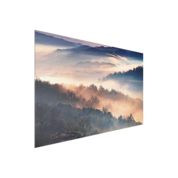 Product picture Print on Glass - Fog At Sunset - Glass...