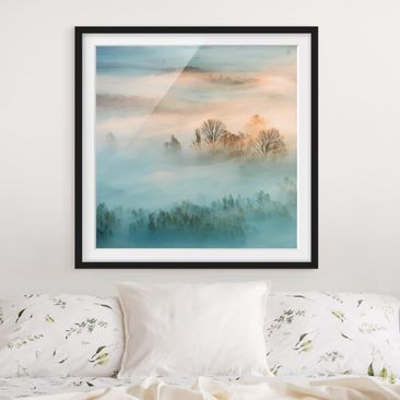 Product picture Framed print - Fog At Sunrise - Square...