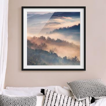 Product picture Framed print - Fog At Sunset - Square...