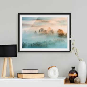 Product picture Framed print - Fog At Sunrise -...