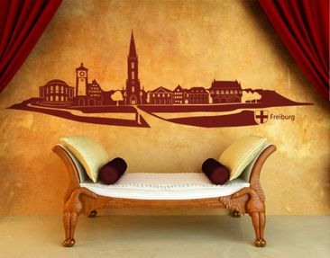 Produktfoto Wall Decal no.KS7 Skyline Freiburg