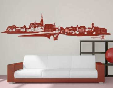 Produktfoto Wandtattoo Skyline No.IS85 Skyline Regensburg