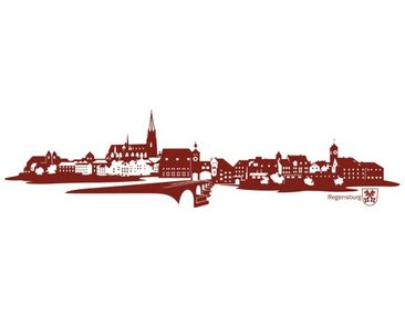 Product picture Wall Decal no.IS85 Skyline Regensburg