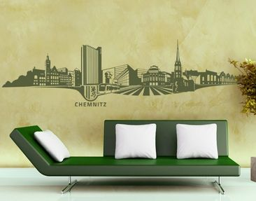 Produktfoto Wall Decal no.TA91 Skyline Chemnitz