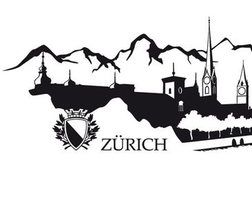 Product picture Wall Decal no.RS3 Skyline Zürich