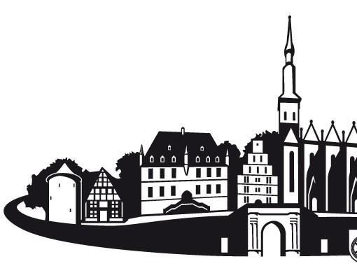Produktfoto Fensterfolie - Fenstertattoo No.RS4 Skyline Osnabrück - Milchglasfolie