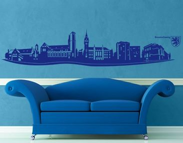 Product picture Wall Decal no.AC14 Skyline Braunschweig