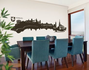 Produktfoto Wall Decal no.AC12 Skyline Würzburg