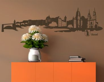 Produktfoto Wall Decal no.RS5 Skyline Basel