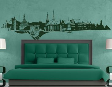 Product picture Wall Decal no.TA92 Skyline Zwickau