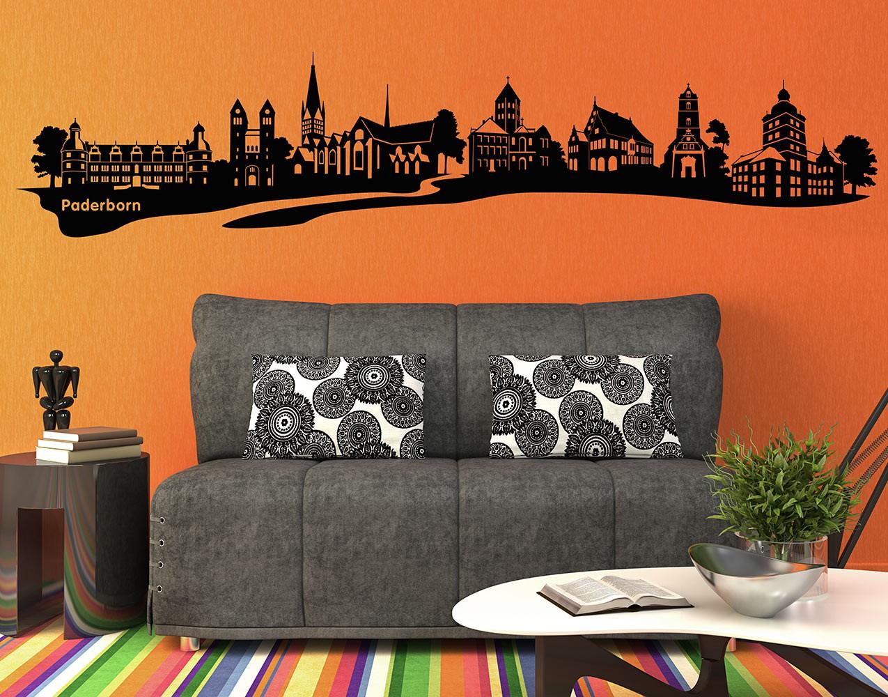 wandtattoo skyline no ac13 paderborn skyline. Black Bedroom Furniture Sets. Home Design Ideas