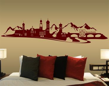 Product picture Wall Decal no.MW15 Rosenheim Skyline