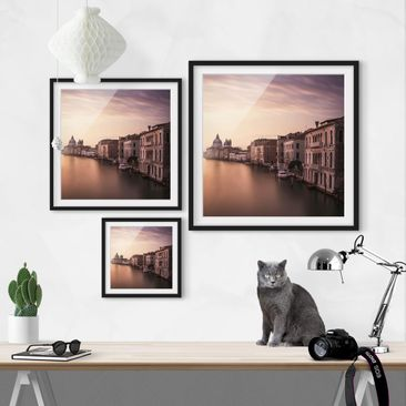 Product picture Framed print - Evening Mood In Venice -...