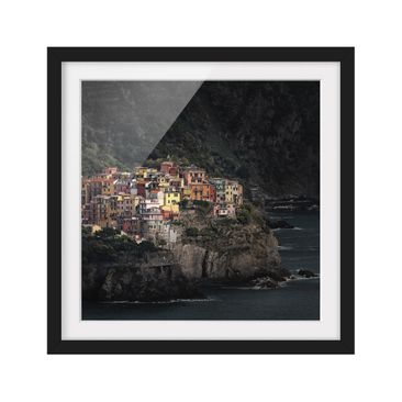 Product picture Framed print - Illuminated Manarola -...