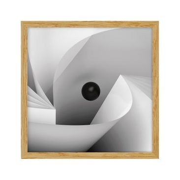 Product picture Framed print - Big Eye - Square Format...
