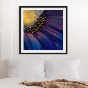Product picture Framed print - Blue Gerber Blossom -...