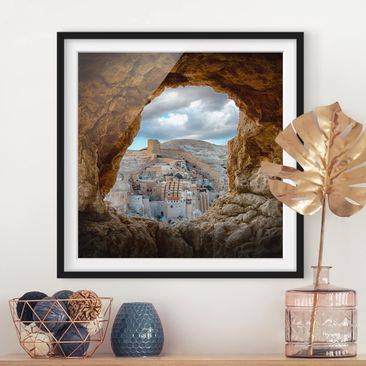 Product picture Framed print - View Of A Monastery -...