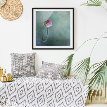 Product picture Framed print - Blossom In Pink - Square...