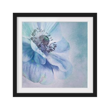 Product picture Framed print - Blossom In Turquoise -...