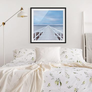 Product picture Framed print - Bridge In Sweden - Square...