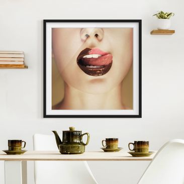 Product picture Framed print - Chocolate - Square Format...