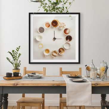 Product picture Framed print - Coffee Time - Square...